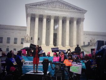 Renee Speaking at SCOTUS