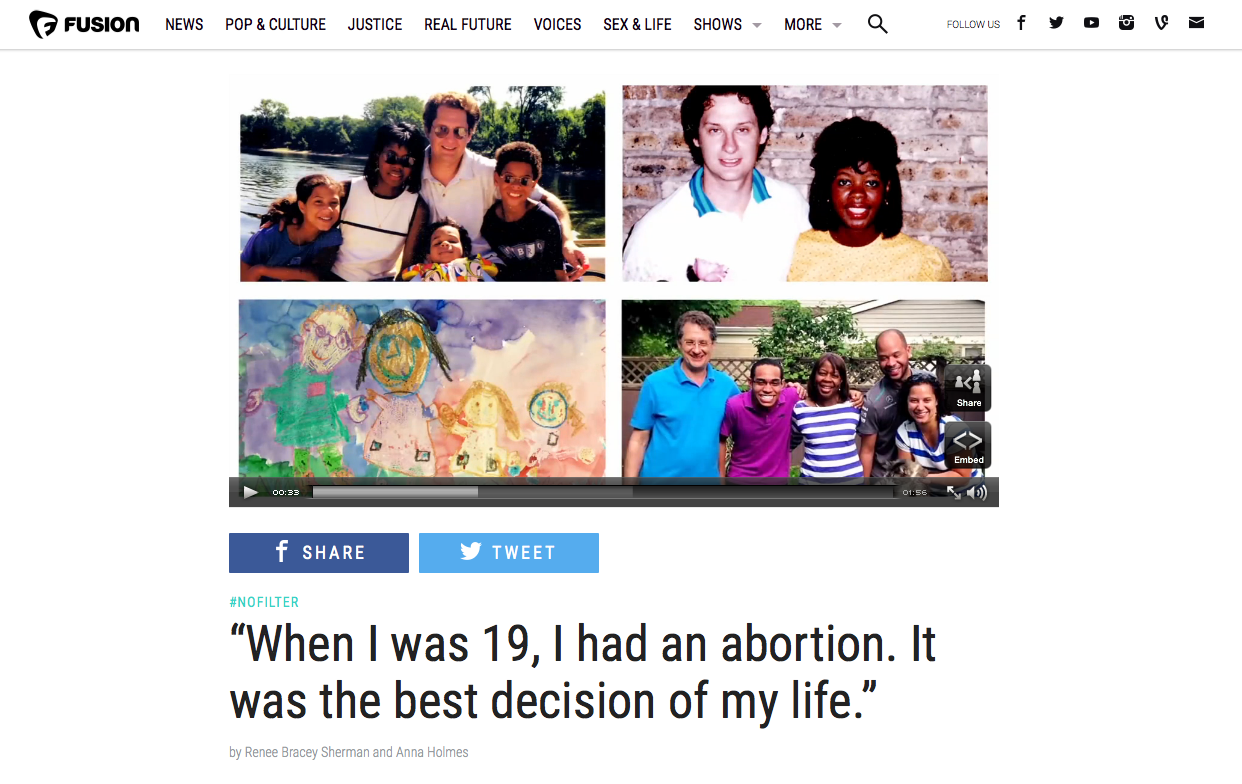 Renee's Abortion Story on Fusion's #NoFilter Campaign