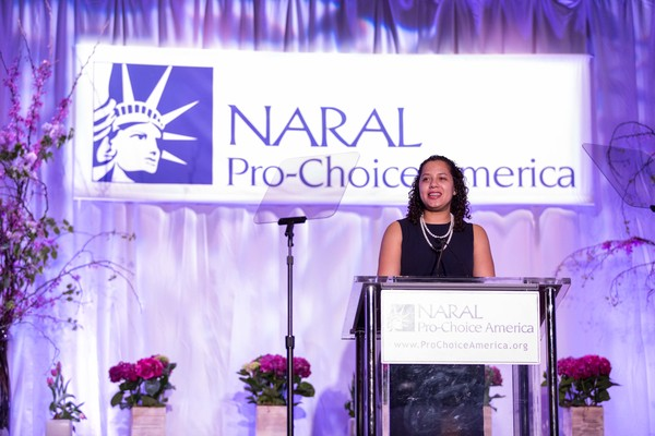 Renee speaking at NARAL Pro-Choice America's 2015 Power of Choice Luncheon